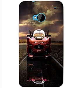 PrintDhaba Car D-4388 Back Case Cover for HTC ONE M7 (Multi-Coloured)