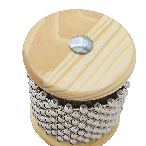 ammoon Wooden Cabasa Small Size Percussion Band Student Children Kid Instrument Pop Hand Shaker