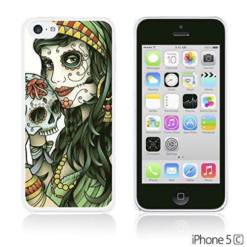 OBiDi - Skull Paintings Hardback Case / Housse pour Apple iPhone 5C - Gentlemen Sugar Skull Lady Holding Sugar Skull