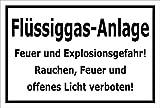 Melis Folienwerkstatt Schild - Flüssiggas-Anlage - 15x10cm   3mm Hartschaum – S00054-A - 20 Varianten