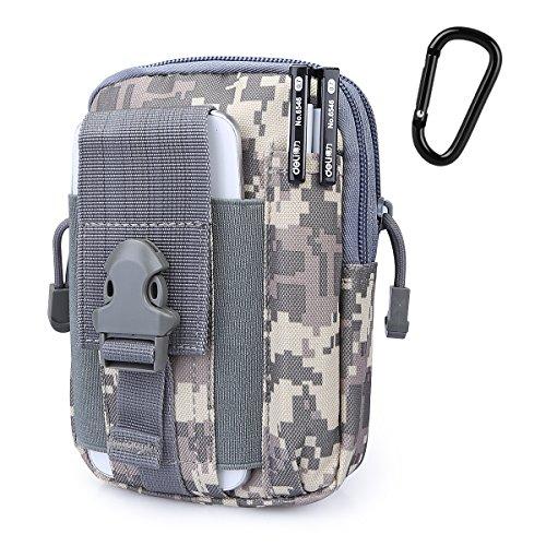 G4Free Taktische Molle-Tasche, Kompaktes EDC-Utility-Gadget, Taillen-Molle-Tasche, Rucksack, CCW Fanny Pack mit Handyhalter zum Laufen, Radfahren, Wandern, Campen, Klettern, ACU