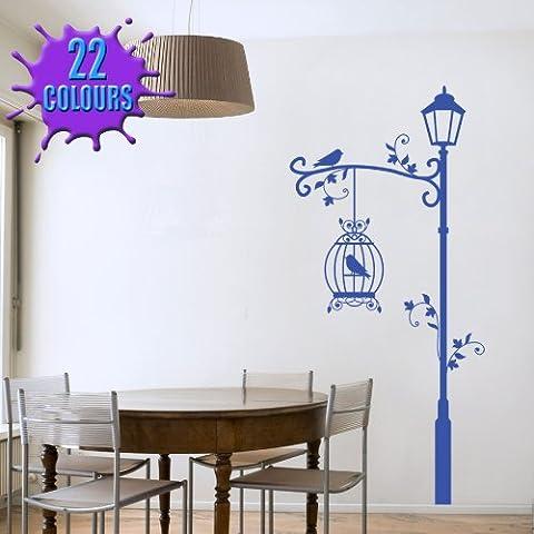 Lámpara decorativa y jaulas - Arte de la pared etiqueta engomada de la sala de estar del dormitorio salón comedor (extra grande)