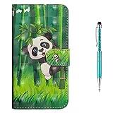Grandoin iPhone 8 Hülle,iPhone 7 Hülle, Handyhülle im Brieftasche-Stil für Apple iPhone 8/7 4.7 Zoll Handytasche PU Leder Flip Cover 3D Bunte Muster Case Schutzhülle Etui Case (Panda)