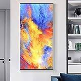 Dekoratives Malereiabstraktes Eingangswandbildhotelschlafzimmernachtwand-Ganggangmalerei-Wohnzimmer-Wandmalerei (Color : Light Wood, Size : Colorful life-100 * 50CM)