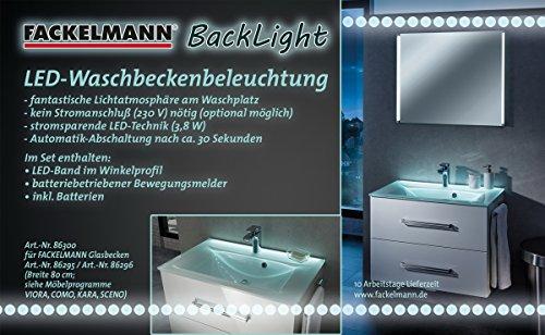 FACKELMANN BackLight, Metall, Chrom, 1,5 x 80 x 1,5 cm