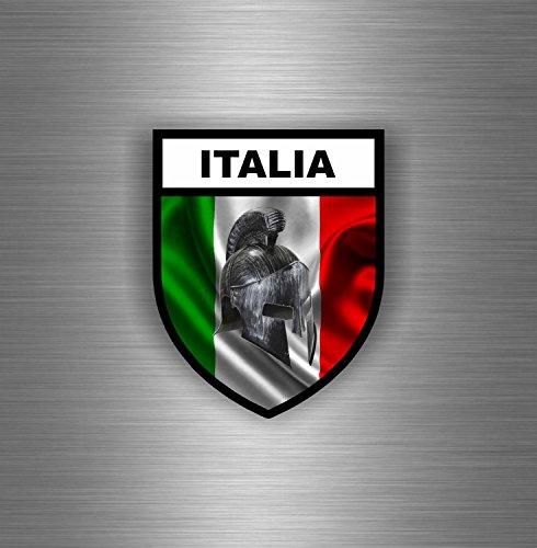 Preisvergleich Produktbild Aufkleber Sticker Auto Motorrad Airsoft Flagge Italien Italienisch Spartan Trojan