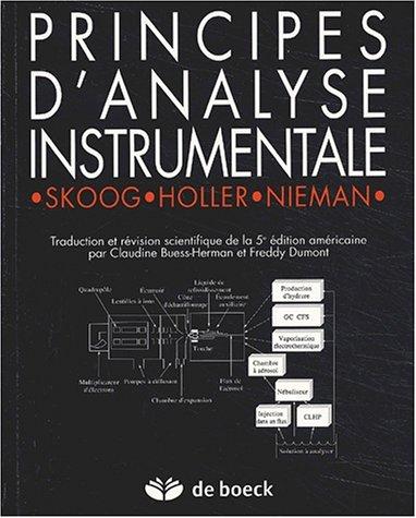 Principes d'analyse instrumentale