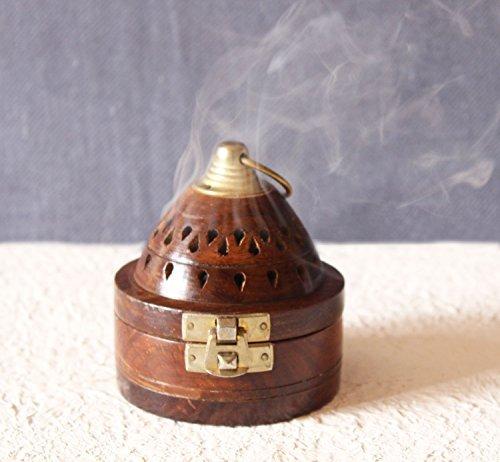 Día del padre regalos hecho a mano de madera Classic Mughal inspirado pirámide CONO de incienso...