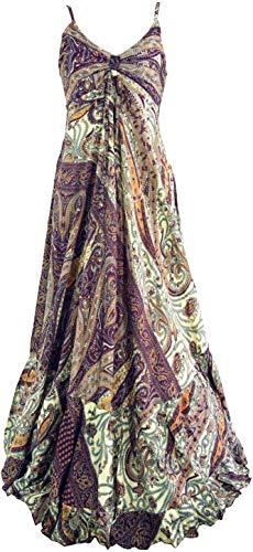 Guru-Shop Maxikleid, Boho Sommerkleid, Damen, Flieder, Synthetisch, Size:38, Lange & Midi-Kleider Alternative Bekleidung