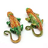 MegOK Tailandia Recuerdo de Viaje Elefante joyero aleación aleación Caja de joyería pequeños Ornamentos