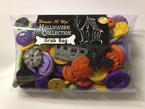 Jesse James Kleid IT UP Verschiedene Größen Mix Halloween Tasten, Mehrfarbig -