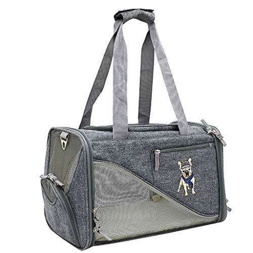 ZH1 Haustier Tasche Pet Luxury Soft-Sided Cat Carrier Fluggesellschaft TSA genehmigt - Pet Travel Portable Kennel für Katzen, kleine Hunde und Welpen (Color : B) -
