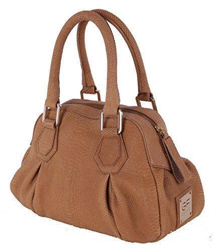 Gian Franco Ferre borsa donna in vera pelle marrone chiaro custodia X186