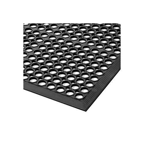 Notrax Arbeitsplatzmatte, gelocht - BxH 910 x 12,7 mm - Länge 1520 mm - Arbeitsplatzmatte Arbeitsplatzmatten Bodenbelag Bodenmatte Gummimatte Sicherheitsmatte -