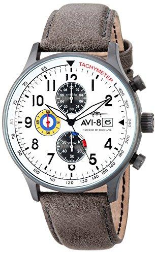 AVI-8 Herren analog Japanischer Quarz Uhr AV-4011-0B -