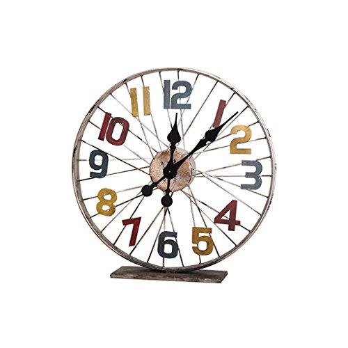 COCO Retro Metall Eisen Das Alte Fahrrad-Rad Die Uhr Industrielle Wind-Bar-Dekoration Kreativ Die Uhr HOME