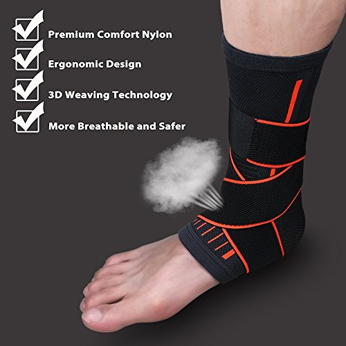 PILAAIDOU-Ankle-Brace-Support-Plantar-Fasciitis-Sock-Ankle-Brace-with-Straps-Sport-Ankle-Brace-Achilles-Tendon-Sleeve-with-Arch-Support-Adjustable-Foot-Sleeves-Compression-Socks-for-Injury-Recovery-Jo