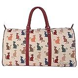 Signare Bowlingtasche 55,9cm 45l, groß, für Damen, Sporttasche/Reisetasche/Handgepäck, Muster: Freche Katze