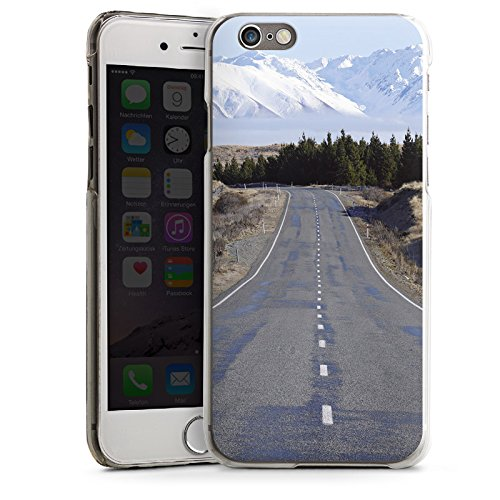 Apple iPhone 4 Housse Étui Silicone Coque Protection Paysage Rue Montagnes CasDur transparent