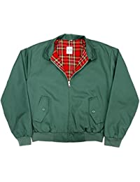 Harrington Jacket with Tartan Lining (XS, Green)