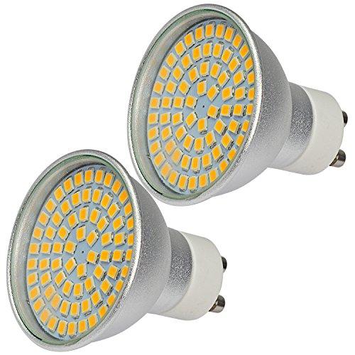 MENGS® 2 Stück GU10 LED Hohe Helligkeit Spotlicht 6W AC 220-240V Kaltweiß 6500K 72x2835 SMD Mit Aluminium Körper und Glas Mantel -