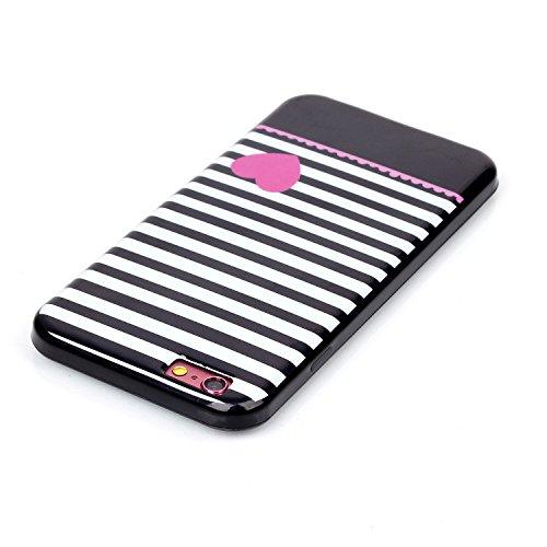TIODIO® 4 en 1 Pour Apple iPhone 6S/iPhone 6, TPU Silicone Shell Housse Coque Étui Case Cover, Stylus et Film protecteur inclus, Brille dans le noir, B20 B11