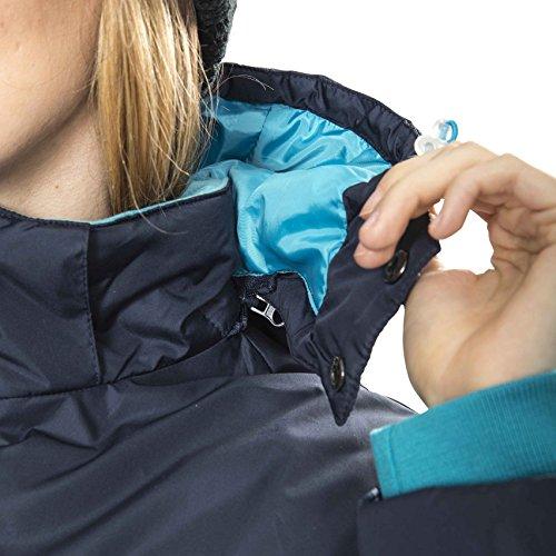 Trespass Homely, Navy, XXS, Wasserdichte Jacke mit abnehmbarer Kapuze für Damen, XX-Small / 2XS / 2X-Small, Blau - 5