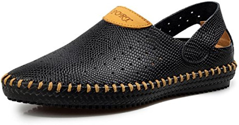 LYZGF Männer Jugend Fruumlhling Sommer Casual Breathable Trendy Faul Fahren Leder Schuhe