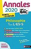 Annales ABC du Bac 2020 Philosophie Term L-ES-S...
