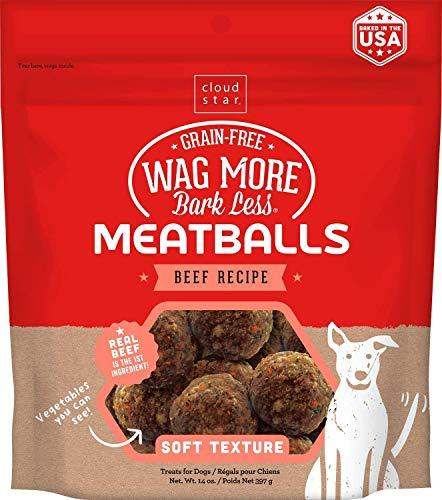 Cloud Star Wag More Bark Less Beef Recipe Meatballs Dog Treats 14 Ounce -