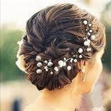 Musuntas 6 pcs. Bijoux perle strass mariage nuptiale nuptiale Accessoires cheveux Clip strass de cheveux