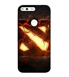For Google Pixel XL Cartoon, Black, Cartoon and Animation, Printed Designer Back Case Cover By CHAPLOOS