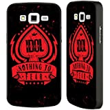 Official Billy Idol Nothing To Fear Logo Black Aluminium Bumper Slider Case for Samsung Galaxy Grand 2