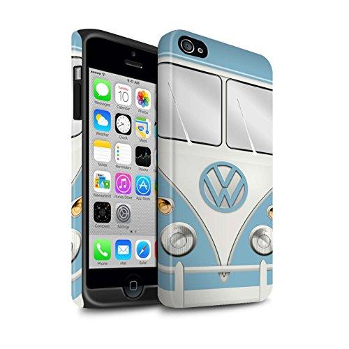 Coque Matte Robuste Antichoc de STUFF4 / Coque pour Apple iPhone 6S / Titan Rouge Design / Rétro T1 Bus Campeur Collection Fjord Bleu