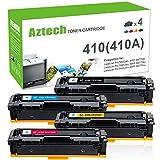 Aztech 4 Pack Kompatibel für HP 410A CF410A-CF413A für M477fdw Toner HP Color Laserjet Pro MFP M477fdw M477fdn M477 477 M477fnw M452dn M452 M452nw m452dw M377dw Laser-multifunktionsdrucker