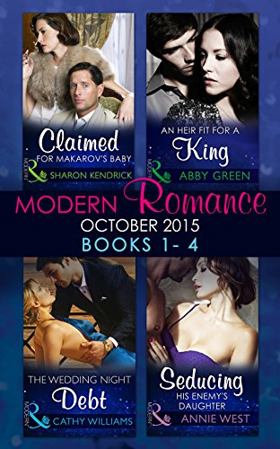 book cover of Modern Romance October 2015 Books 1-4