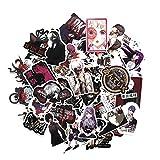 ALTcompluser ALTcompluser 52 Stk Tokyo Ghoul Stickers Wasserdicht Aufkleber Vinyl Aufkleber für Laptop, Macbook, Gepäck, Skateboard