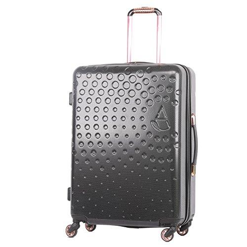 """Aerolite Medium 25\""""leichte ABS Hartschale 4 Wheel Hold Check Gepäck Koffer, Farbe, (Schwarz)"""