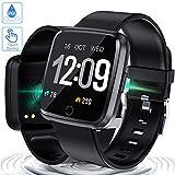 Zagzog Montre ConnectéeSmartwatch Bracelet Connecté Bluetooth,Podomètre Cardio ÉtancheIP67 Smart Watch Sport, Fitness...