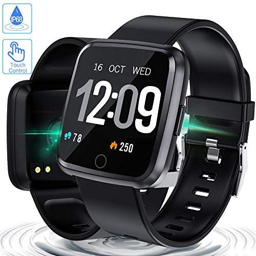 Zagzog-Smartwatch-Wasserdicht-IP67-Bluetooth-Smartwatch-Pulsuhr-Fitness-Tracker-Sportuhr-mit-Kamera-Romte-Schlafmonitor-Kalorienzhler-erfassen-SMS-Whatsapp-Note-Kompatibel-fr-IOS-Android