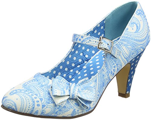 Joe Browns Sweet Melody Bow Shoes, Mary Jane femme Blue (a-blue)