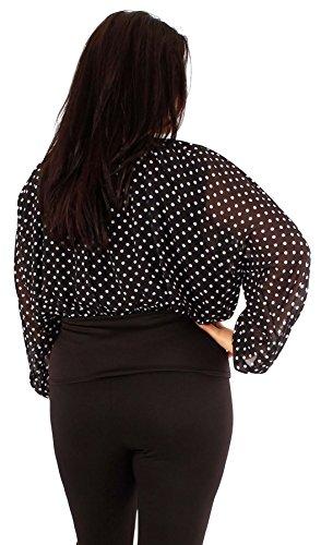 Chocolate Pickle ® Neuen Frauen weg von den Schulter-Langarm Schmetterling Korsett Plus Size Gypsy Tops Polka Dot