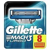 Gillette Mach3 Turbo Lames De Rasoir Pour Homme - 8 Recharges