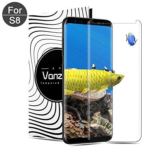 [1-Pack] Vetro Temperato Galaxy S8 Pellicola Protettiva Vanzon in Vetro Temperato Screen Protector Film Ultra Resistente (0,33mm HD Alta trasparente) per Samsung Galaxy S8