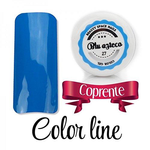 Color Line – Couleur couvrante et effet verre – Gel UV coloré 5 ml, reconstruction de faux ongles bleu foncé
