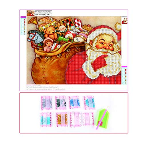 (Formulaone Weihnachten deko 5d DIY Diamant malerei kreuzstich weihnachtsmann Hause handarbeiten bilderrahmen weihnachtsschmuck weihnachtsmann kreuzstich Multicolor)