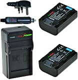 ChiliPower Sony NP-FH50, NP-FH40, NP-FH30 Kit: 2x Battery (800mAh) + Charger (UK Plug) for Sony Alpha DSLR-A290, DSLR-A330, DSLR-A390, Cyber-shot DSC-HX1, DSC-HX100V, DSC-HX200V, DCR-DVD108, DCR-DVD308, DCR-DVD808, DCR-DVD810, DCR-DVD905, DCR-SR47, HDR-CX100, HDR-TG1, HDR-TG3, HDR-TG5V, HDR-UX7E, HDR-UX9E