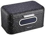 KINGHOFF–Recipiente Caja de pan de metal (3colores alimentos almacenamiento bin ventana frontal