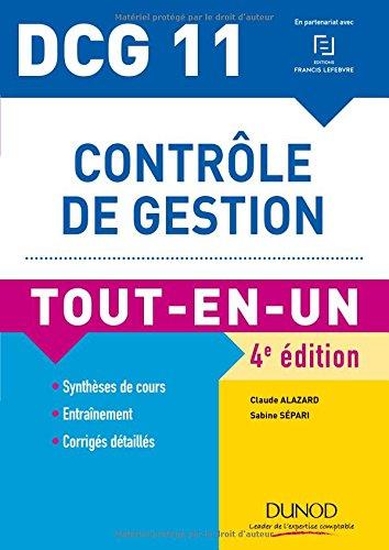 DCG 11 - Contrôle de gestion - 4e éd. - Tout-en-Un