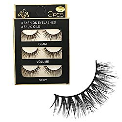 9th Avenue 10mm: 3 pairs/lot Hand Made Crisscross permanent eyelashes make up cotton stalk 3d eyelash fashion false mink lashes made in china